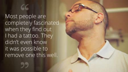 """Most people are completely fascinated when they find out I had a tattoo."""